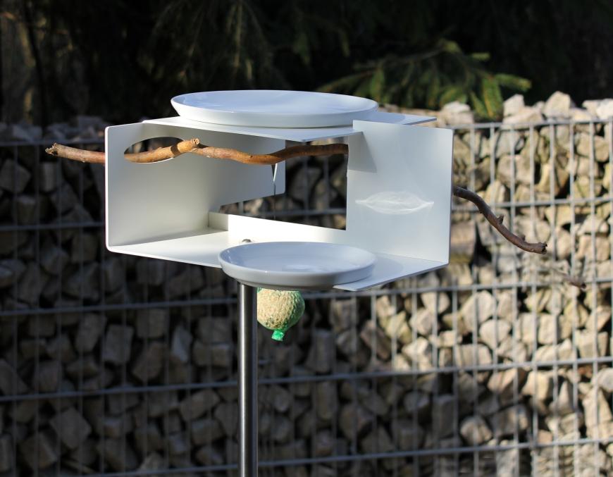 Mangeoire design les marie papotent - Baignoire oiseaux jardin ...